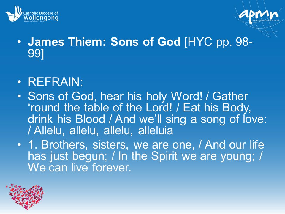James Thiem: Sons of God [HYC pp. 98-99]